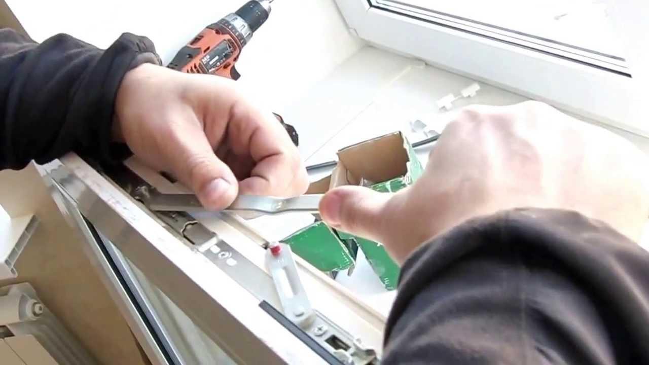 Ремонт оконной фурнитуры пластиковых окон, ремонт фурнитуры .