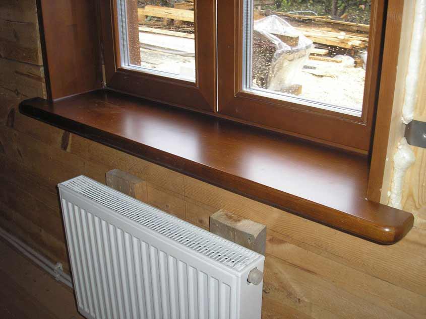 пластиковые окна деревянные подоконники фото самые